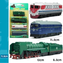 4pcs/set 12cm Vintage  Railway Train Car Coal Train Suit Pocket Alloy Toy Train Model Gift for baby(China (Mainland))