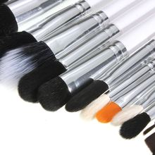 15Pcs Pro Facial Makeup Brushes Kit High Quality Fiber Face Eyes Blush Brush Set Women Beauty