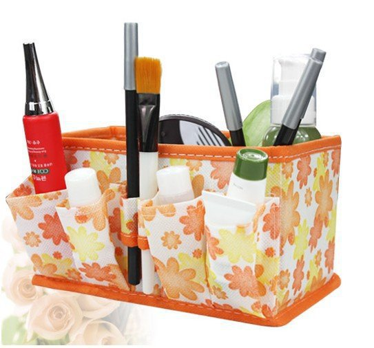 Non Woven Basket : Py makeup organizer multifunction folding desktop