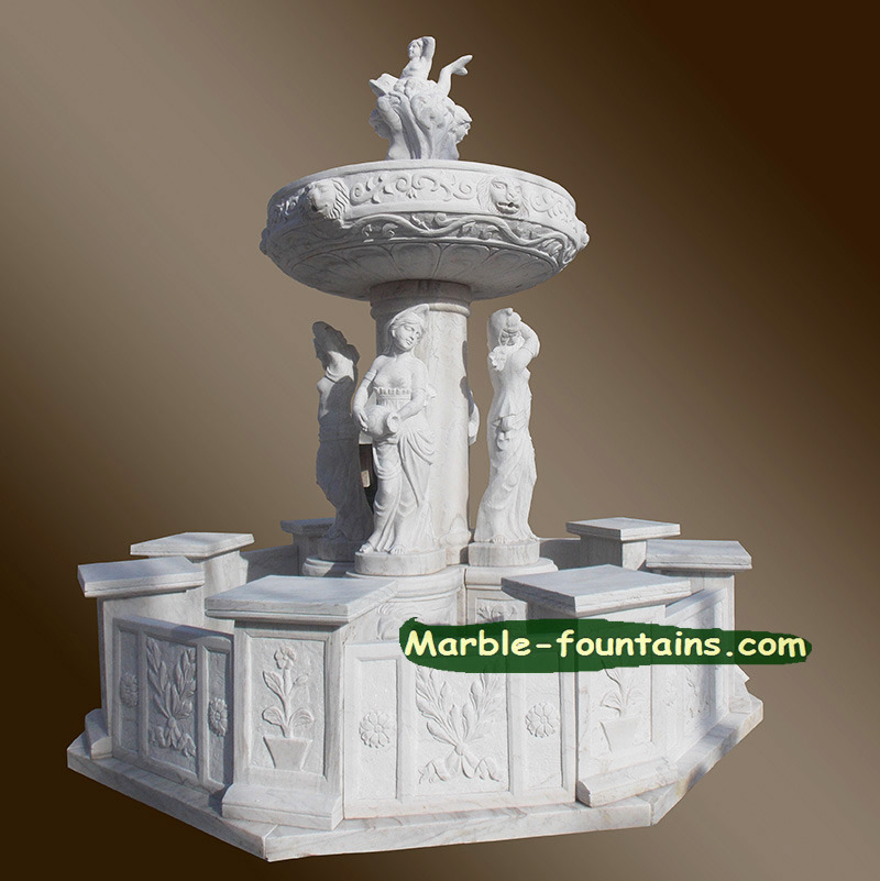 <font><b>Italian</b></font> Fountains for sale white marble statues fountain best <font><b>decoration</b></font> garden <font><b>Italian</b></font> Marble fountain for sale