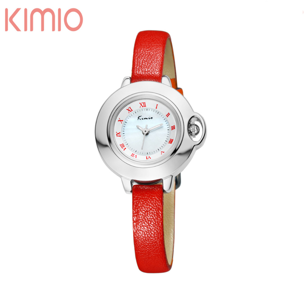 KIMIO Genuine Leather Woman's Watch for Women Japan Quartz Wrist Watches Amazing Design Ladies Fashion Casual Watches(China (Mainland))