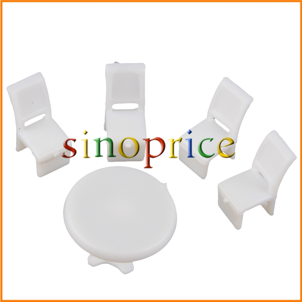 10 Tables 40 Chairs 1:100 Scale Dollhouse Miniature Dining Room Furniture Decor(China (Mainland))