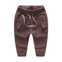 Autumn and Winter Fleece Boys Protection Belly Fleece Pants Boot Cut Cheap Warm Comfortable High-quality Trousers for Cute Boys(China (Mainland))