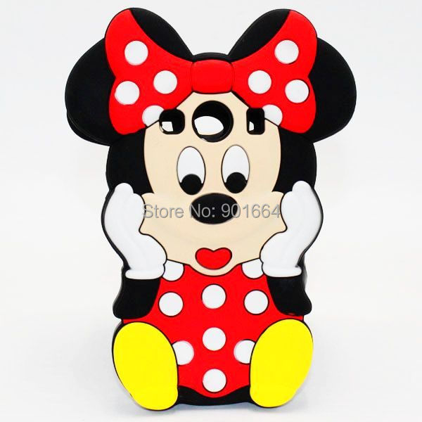 For Samsung Galaxy Ace 4 Case 3D Cartoon Minnie Mouse Silicone Phone Cases Cover For Samsung Ace4 Style LTE G357 SM-G357FZ(China (Mainland))