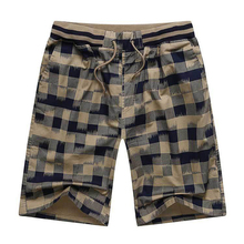 Hot 2017 Summer Men Plaid Shorts Classic Design Cotton Casual Beach Short Pants Brand Famous Shorts Plus Size 4XL High Quality(China (Mainland))