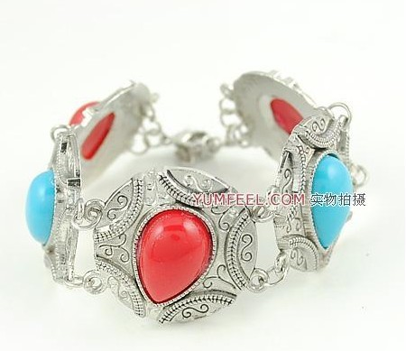 Free shipping 1 lot/10pcs Baroque vintage style jewelry fashionable exotic bracelet bangles water drop crystal