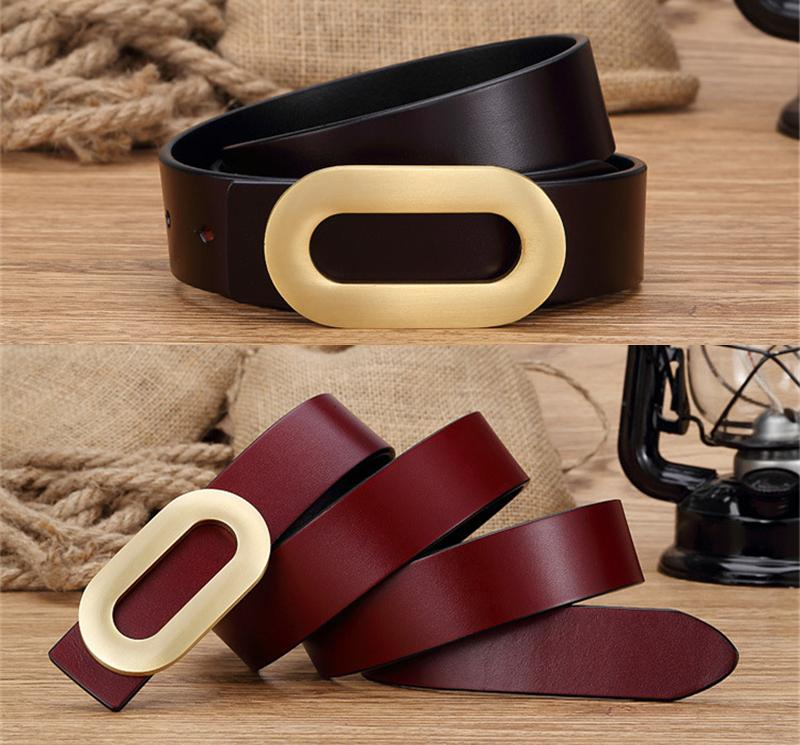 Mens Belts Luxury Men Belt Solid Brass Buckle Genuine Leather Brand Belt Buckle Designer belts Ceinture Homme mujer MBT0232(China (Mainland))