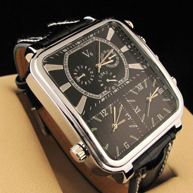New Design Men's Wrist Quartz Watch Black Dial Belt Men Watches Fashion Style NBW0FS6207-SS3