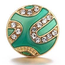 Szary kwiat z kryształ Snap biżuteria 18mm przyciski Fit amulet ze stali nierdzewnej przycisk bransoletka Wedding Party hurtownie(China)