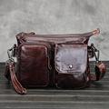 YISHIDUN 2016 New handbag Vintage Genuine Leather Business Mens Messenger Bags Men s Shoulder Bags Cowhide