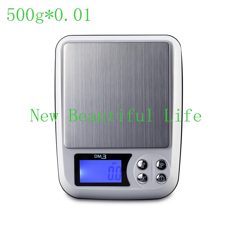 Digital Precise 500gx0.01g LCD Table Jewellery Bench Scale Electronic Postal Balance Weight Household Kitchen Scales(China (Mainland))