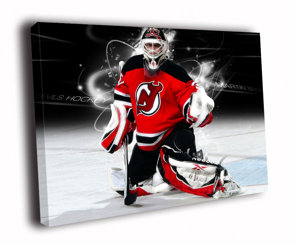 Martin Brodeur New Jersey Devils Solid Wood Canvas Frameless Paints TXHOME D5277(China (Mainland))