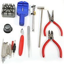 2016 Deluxe New Watches Mend Outfits 18pcs Case Opener Pin Clock Fixed Kits Remover Wristwatch Change Relogio Repair Tools(China (Mainland))
