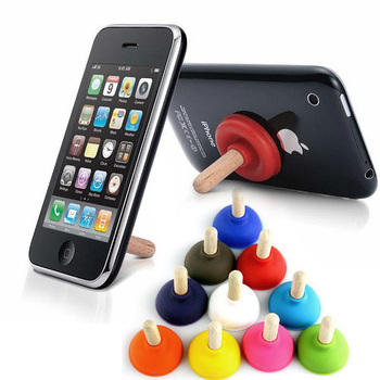 Creative cell phone holder mobile phone holder toilet pumping small silicone sucker stand wholesale 10 pieces
