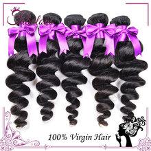 Beauty Brazilian Loose Wave Virgin Hair, Wholesale Cheap 7A Unprocessed Virgin Hair 3 Bundles, Buy Human Hair Loose Wave(China (Mainland))