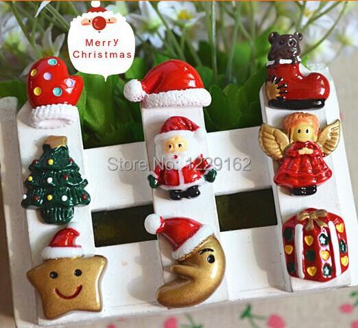 (9pcs/set ) Christmas fridge magnet refrigerant sticker cartoon message sticker home Decor Kids toy small gift(China (Mainland))