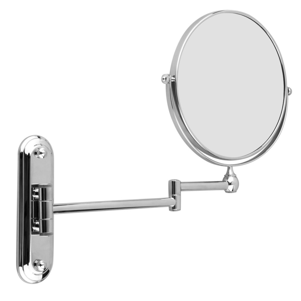 HTHL Silver Extending 8 inches cosmetic wall mounted make up mirror shaving bathroom mirror 7x Magnification(China (Mainland))