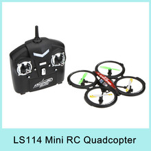 LIANSHENG LS114 4CH 2.4GHz RTF UFO Aircraft Drone Radio Control Toy RC Helicopter Quadcopter w/ 6-Axis Gyro Original NEW 2015(China (Mainland))