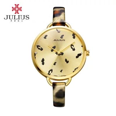 JA-254 montre femme  top brand julius women dress  watch high quality quartz watch ladies fashion Leopard Print clock<br><br>Aliexpress