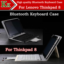 2015 Hot sale Bluetooth Keyboard Case For lenovo thinkpad 8 8 Inch win8 Tablet PC Freeshipping+screen protector as gift