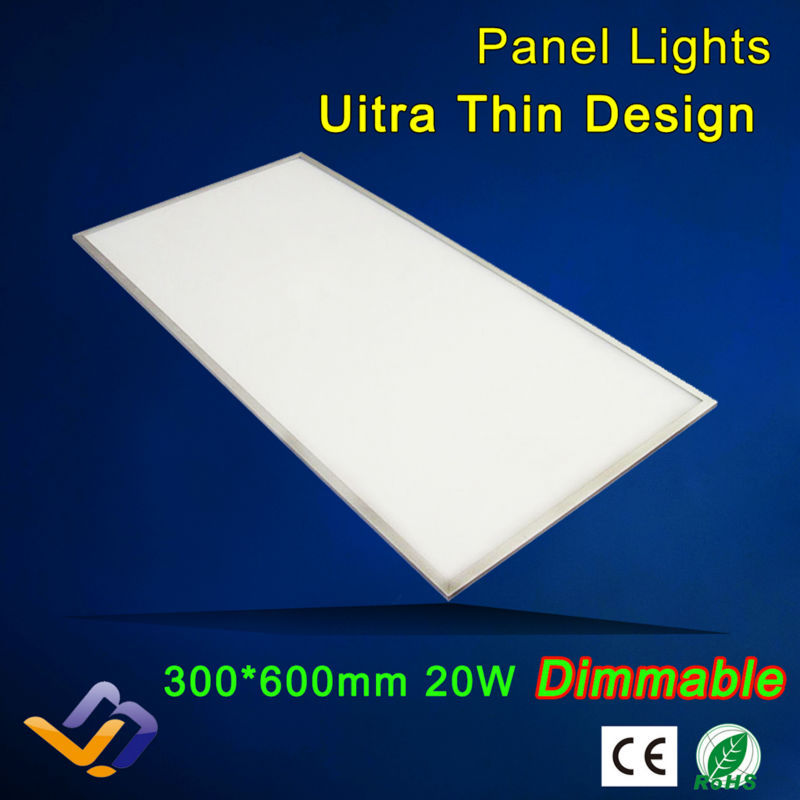 20w 300x600,85-265V AC Led panel lights,dimmable panel, kitchen bathroom bedroom white ceiling downlighting(China (Mainland))