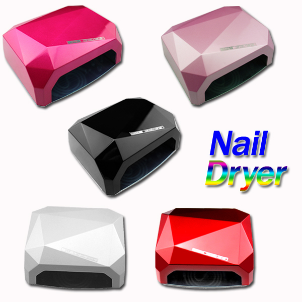 Nail Art Lamp Care Machine CCFL 36W LED Light Diamond Shaped Best Curing Nail Dryer for UV Gel Nail Polish EU Plug(China (Mainland))