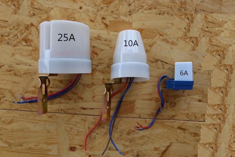 Newest 220v 25a Dusk Till Dawn Automatic Photocell Light