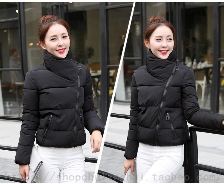 2016 NEW  Women's winter coat new Korean short collar jacket thick cotton bread service jackets
