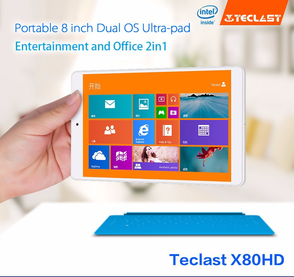 Teclast/ TELECT X80HD dual system 32GB WIFI dual system tablet Win8 tablet 8 inch