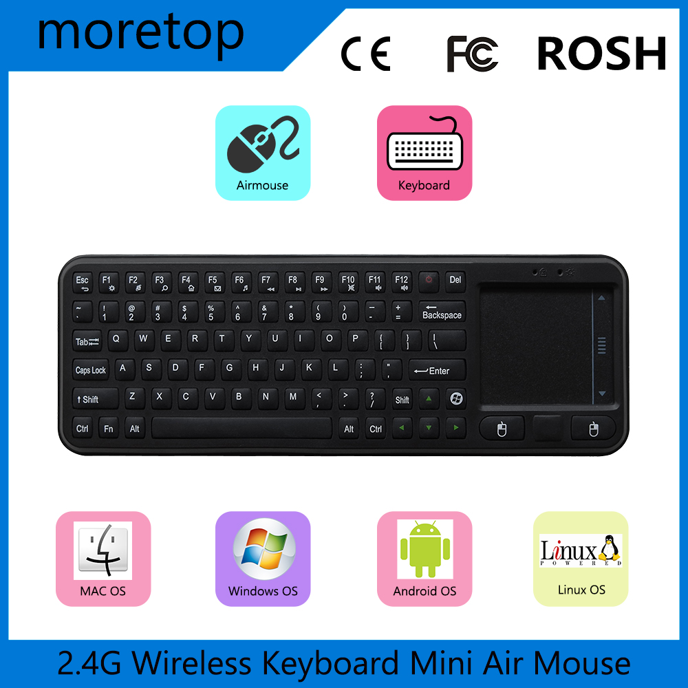 Original Measy RC8 Air Mouse 2.4G Wireless Keyboard Keyboard Remote Control for MK809 M8S CS918 Smart TV IPTV Android TV BOX(China (Mainland))