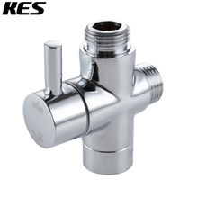 """KES BRASS 3-Way Diverter Valve 1/2"""" IPS Shower System Replacement Part Polished Chrome, PV9(China (Mainland))"""