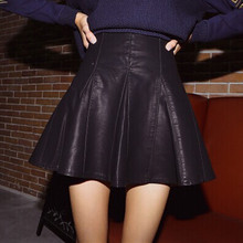 Buy Waist circumference:66cm~88cm. Hot sale high waist faux leather skater flare skirt mini skirt knee solid color skirt for $5.34 in AliExpress store