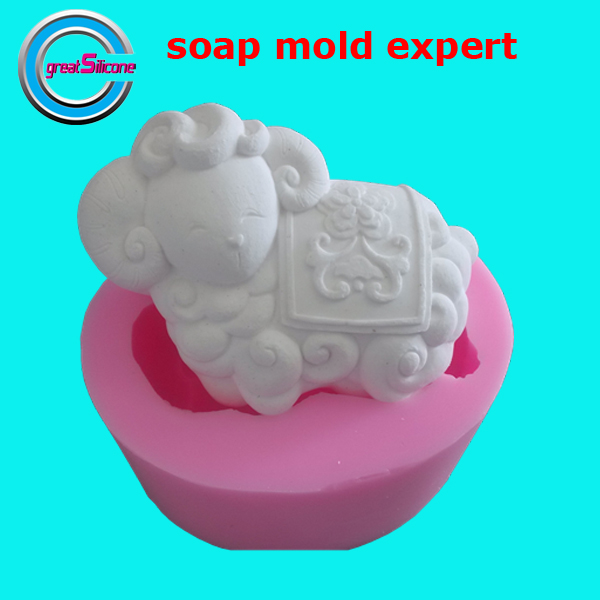 sheep soap mold cake mold decorative silicone mold for soap making(China (Mainland))