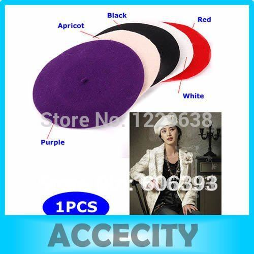 """S105""""Free shipping New High quality for ladies and girls Wool Warm Beret Hat Cap(China (Mainland))"""