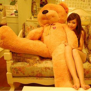 Christmas gift teddy bear plush toy big size bear toys 1.6M bear soft toy factory supply freeshipping(China (Mainland))