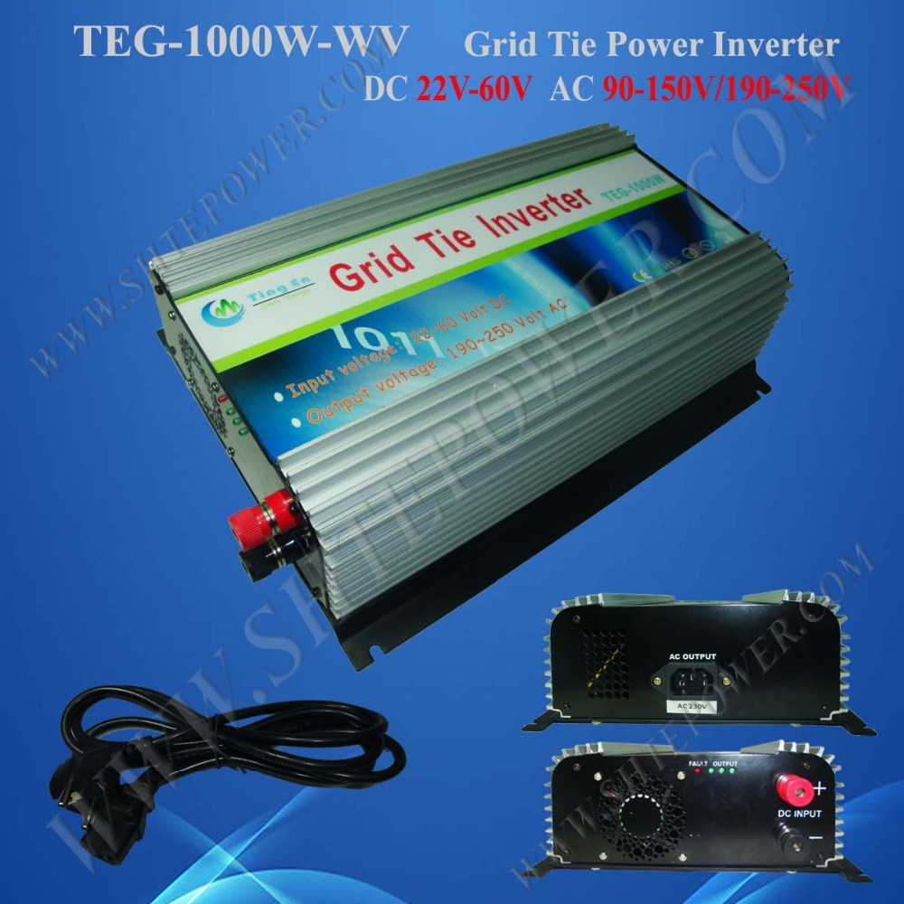 Best price DC 22-60v 1000w DC to AC grid tie solar inverter wiht pure sine wave output(China (Mainland))