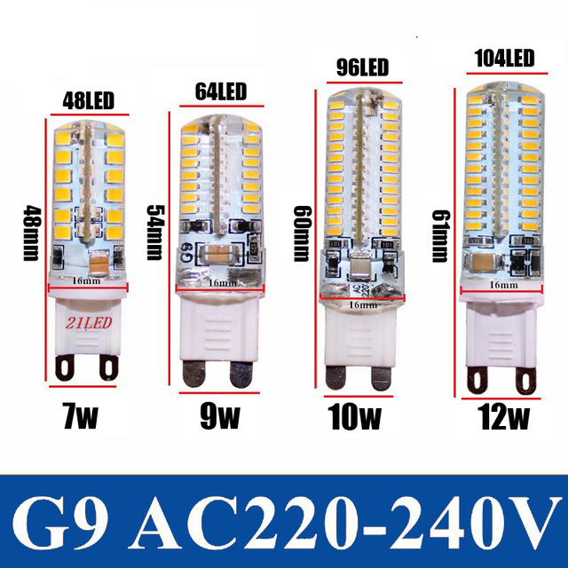 2014 new G9 led corn lamp AC220V 7w 9w 10w 12W 2835LED Crystal Silicone Candle Replace 20-40W halogen lamps Christmas light bulb(China (Mainland))