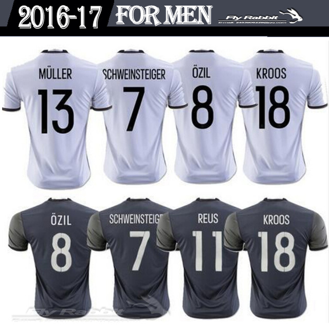 Hot sales EUR 2017 Germany best Quality adult Short 16 17 Home Away Germany Man Soccer jersey free shipping(China (Mainland))