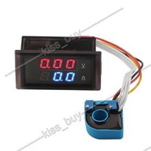 DC 100V 200A Volt Amp Meter Dual display Voltage Current 12V 24V CAR Voltmeter Ammeter Charge Discharge Solar Battery Monitor(China (Mainland))