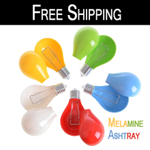 Free Shipping!Melamine fashion Candy Color bulb Ashtray for Cigarette Cigar(China (Mainland))