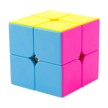 Newest Yongjun YJ Moyu Yupo 2x2x2 Stickerless Magic Cube Competition Speed Puzzle Cubes Toys For Kids