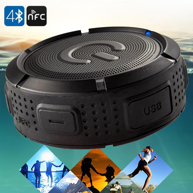 LEMFO Waterproof Bluetooth Speaker Mini Wireless NFC Super Bass Subwoofer Outdoor Sport Sound Box Portable MP3 Music Player(China (Mainland))