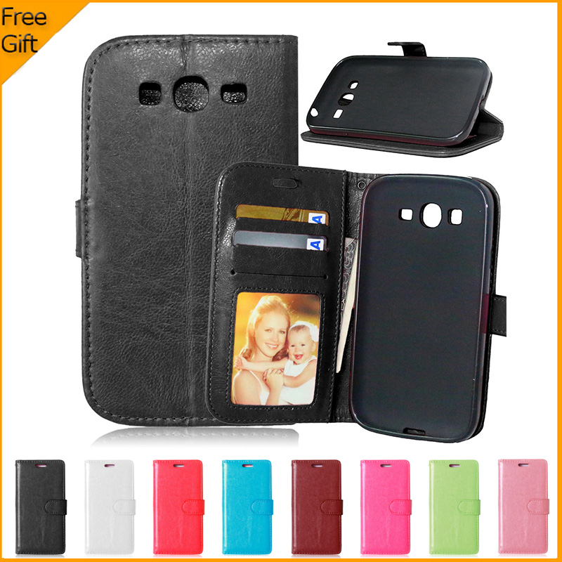 Luxury Wallet PU Leather Case Cover For Samsung Galaxy Grand DUOS i9082 i9080 Neo i9060 i9062 Case Plus I9060i Flip Back Cover