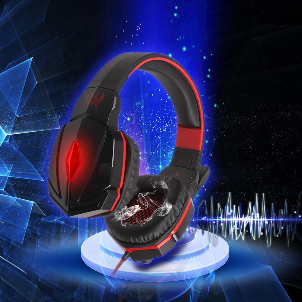 New EACH G4000 Ear Hook Gaming Headphone Headset Gamer Headband Earphone With Mic Stereo LED Light