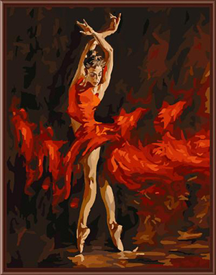 Frameless Wall Art Balle Dancer Picture Painting By Bumbers Hand Painted Oil On Canvas Home Decor For Living Room 40*50cm G286(China (Mainland))
