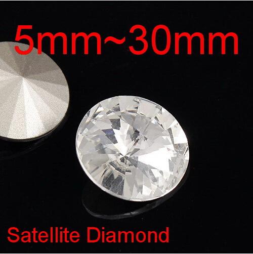 Nail Art Clear Rivoli Round Glass Crystals Crystal Fancy Jewelry Stone Rhinestone Beads 5mm,6mm,8mm,10mm,,12mm,14mm,16mm,etc.(China (Mainland))