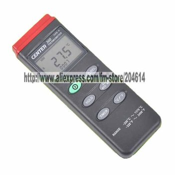 Free Shipping Digital Thermometer CENTER-300 K-type with Auto Power Off functions 2pcs/lot