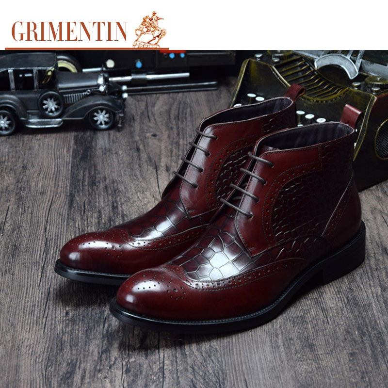 2015 European luxury allagator fashion formal mens ankle boots genuine leather balck dress men shoes for business wedding bo284(China (Mainland))