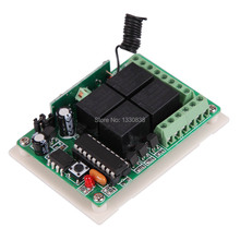Free shipping AK RK04S 12 433 MHz Multifunctional 12V 4 Channel Remote Control Switch ME3L