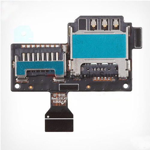 New for Samsung Galaxy S4 Mini I9190 I9195 SIM Card and SD Card Reader Contact Flex Cable Free Shipping(China (Mainland))